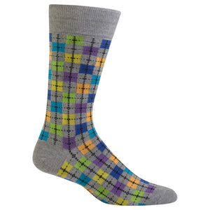 Men's Box Argyle Crew Socks
