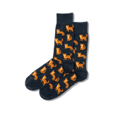 Men's Cat Crew Socks thumbnail