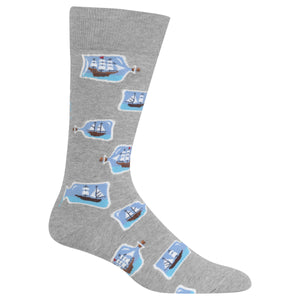 Men's Ships in a Bottle Crew Socks