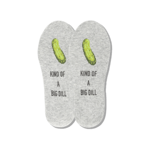 Men's Kind of a Big Dill No Show Socks