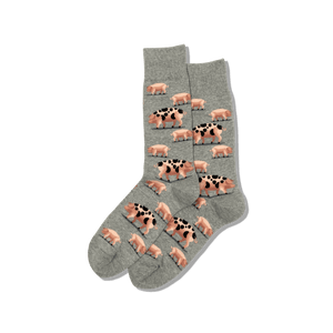 Men's Spotted Pig Crew Socks