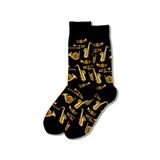Men's Jazz Instruments Crew Socks thumbnail