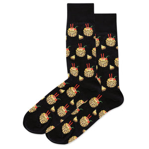 Men's Pineapple Drink Crew Socks