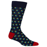 Men's Shadow Squares Crew Socks