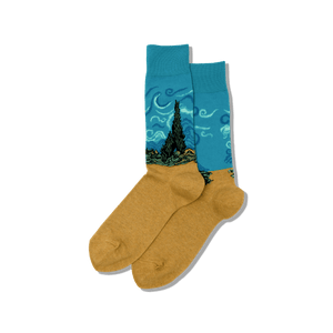 Men's Van Gogh's Wheat Field with Cypresses Socks