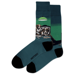 Men's Poker Game Crew Socks