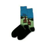 Men's Wine Country Crew Socks