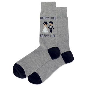 Men's Happy Wife Happy Life Crew Socks