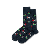 Men's Christmas Dogs Crew Socks thumbnail