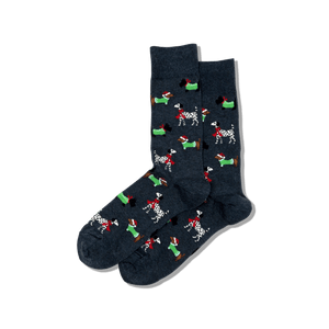 Men's Christmas Dogs Crew Socks