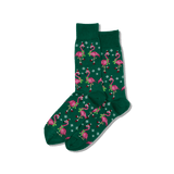 Men's Santa Flamingos Crew Socks thumbnail