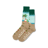 Men's Surfing Santa Crew Socks