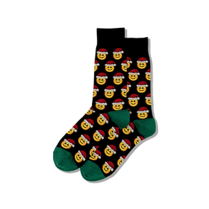 Men's Santa Smile Emoji Socks