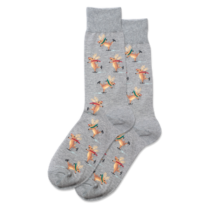 Men's Skating Reindeer Crew Socks