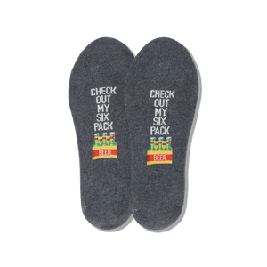 Men's Check Out My Six-Pack No Show Socks
