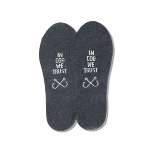 Men's In Cod We Trust No Show Socks