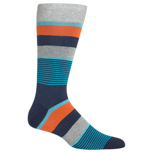 Men's Mixed Stripe Crew Socks