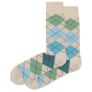 Men's Feed Stripe Argyle Crew Socks