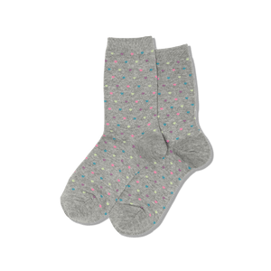 Womens Pin Dot Heart Socks