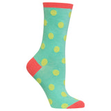 Women's Large Polka Dots Crew Socks