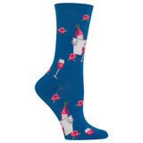 Women's Rose Wine Crew Socks