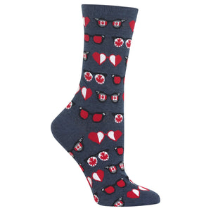Women's Canadian Glasses Crew Socks