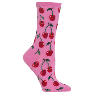 Women's Cherries Crew Socks