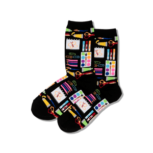 Women's Art Supplies Crew Socks