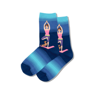 Women's Yoga Girl Crew Socks