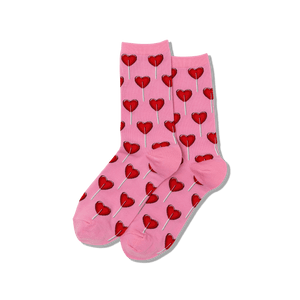 Women's Heart Lollipop Crew Socks