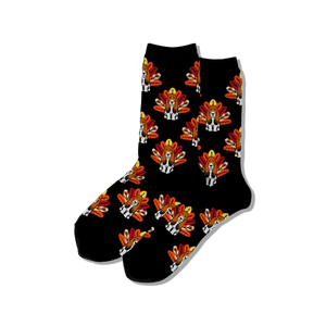 Women's Turkey Dog Crew Socks