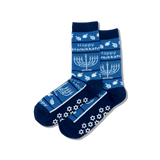 Women's Happy Hanukkah Non Skid Crew Socks thumbnail