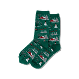 Women's Christmas Scene Crew Socks