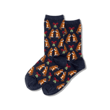 Women's Mistletoe Cat Crew Socks