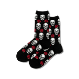 Women's Skull and Roses Socks