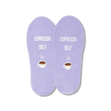 Women's Espresso Self No Show Socks
