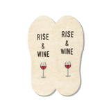 Women's Rise and Wine No Show Socks