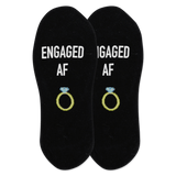 Women's Engaged Af No Show Socks