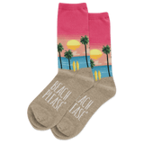 Women's Beach Please Crew Socks thumbnail