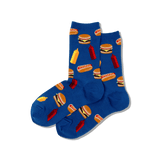Women's BBQ Food Crew Socks