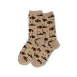 Women's Bison Crew Socks