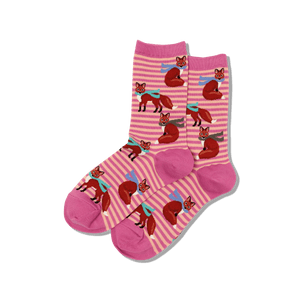 Women's Winter Foxes Crew Socks