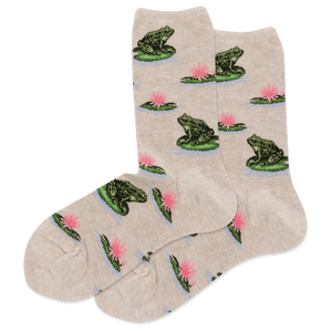 Women's Frog Crew Socks