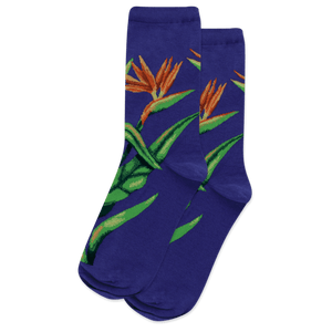 Women's Birds of Paradise Crew Socks