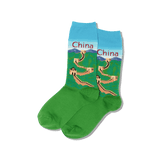Women's China Crew Socks