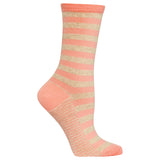 Women's Two Color Stripe Crew Socks