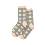 Women's Buffalo Check Crew Socks thumbnail