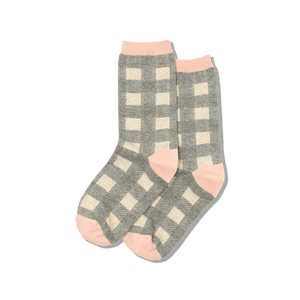 Women's Buffalo Check Crew Socks