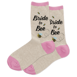 Women's Bride to Bee Crew Socks