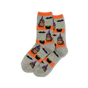 Women's Owl Witch Crew Socks